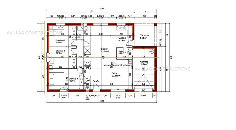 plan maisons avillas constructions 52106