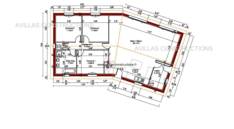 plan maisons avillas constructions 52108