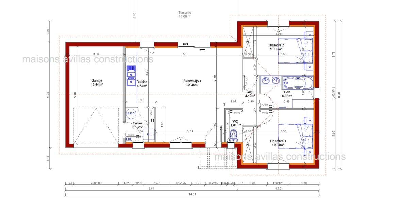 plan maisons avillas constructions 52115