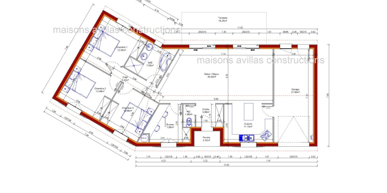 plan maisons avillas constructions 52116