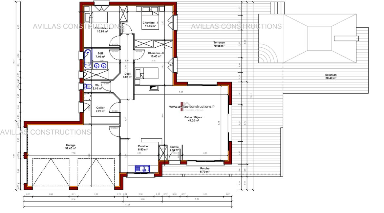plans maisons avillas constructions 52109